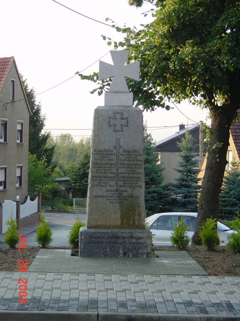 Denkmal in Seifertsmühle