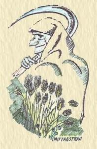 Mittagsfrau Zeichnung von H.J.Jank