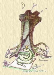 Schlangenkoenig Zeichnung von H.J.Jank