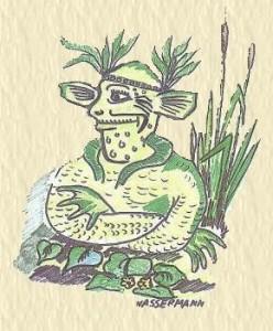 Wassermann Zeichnung vo H.J.Jank
