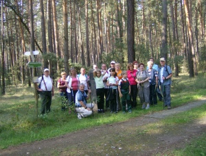 Ein Erinnerungsfoto an die sechste geführte Wanderung entlang der historischen Grenze zwischen Preußen und Sachsen